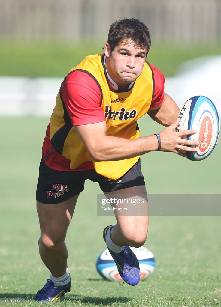 Cobus Reinach during The Sharks training session at Kings Park on February 19, 2013 in Durban, South Africa.