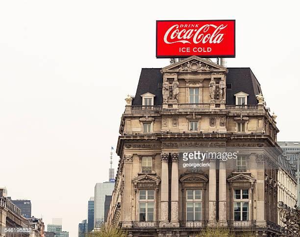 Coca Cola advertising screen in Europe