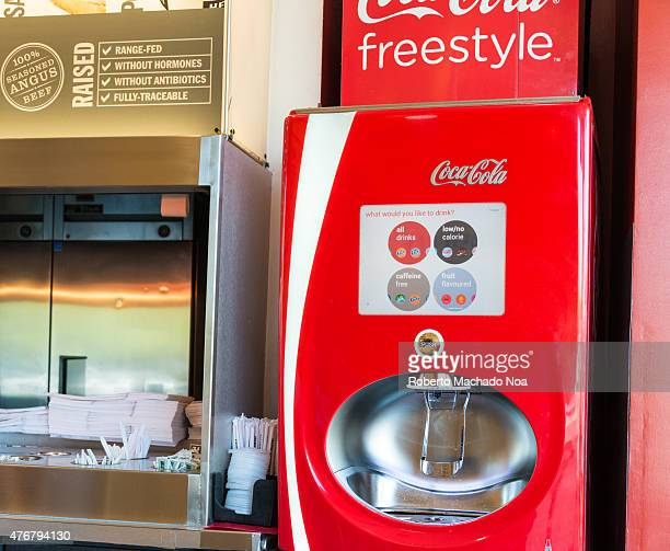 Coca Cola new freestyle vending machine the equipment is able to mix different flavors as per your choosing There are additional choices like the new...