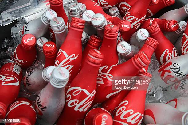 Coca Cola on display at the KitchenAid Culinary Demonstrations during the 2015 Food Network Cooking Channel South Beach Wine Food Festival presented...