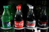 Coca Cola products are displayed in a cooler at Marina Supermarket on July 22 2014 in San Francisco California The San Francisco Board of Supervisors...