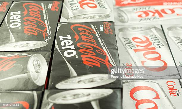 Coca Cola Zero and Coca Cola Diet can boxes in a store CocaCola is a carbonated soft drink sold in stores restaurants and vending machines throughout...