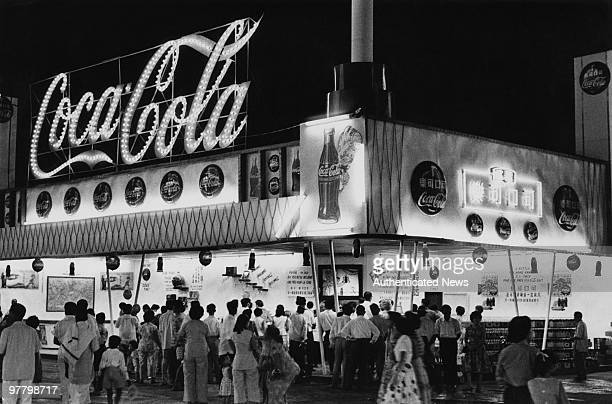 A CocaCola stand in Singapore circa 1955