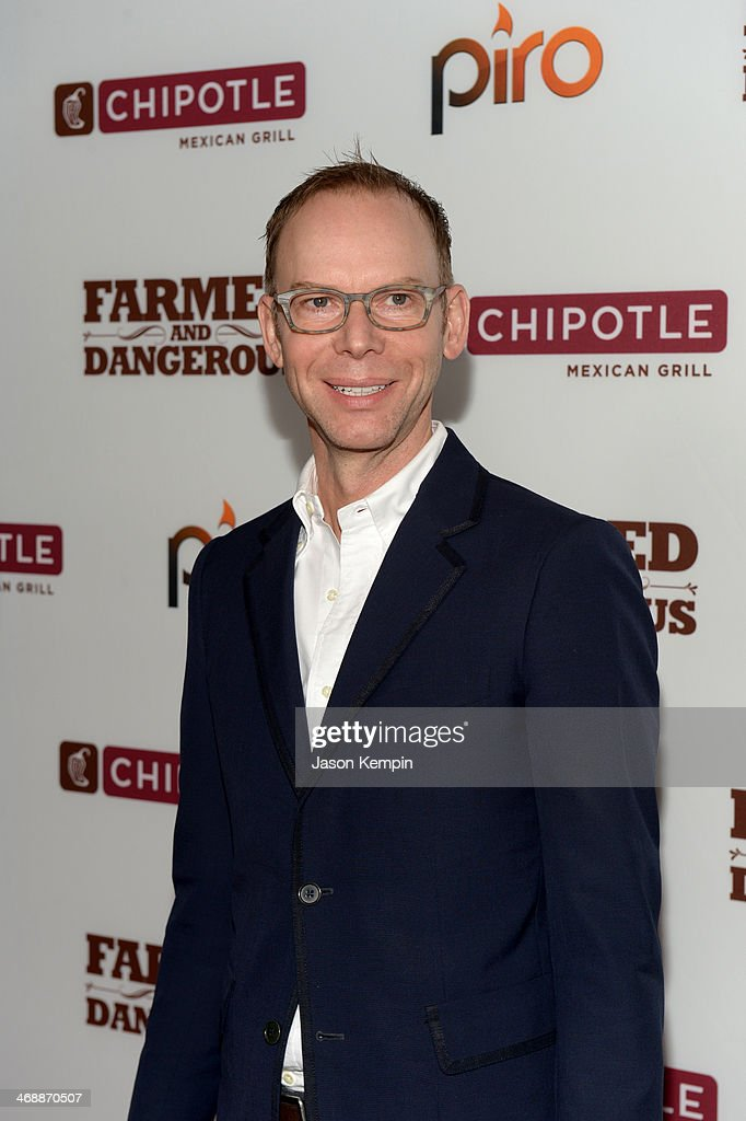 Co-CEO of Chipotle Steve Ells walks the red carpet at the world premiere of 'Farmed and Dangerous,' a Chipotle/Piro production at DGA Theater on February 11, 2014 in Los Angeles, California.