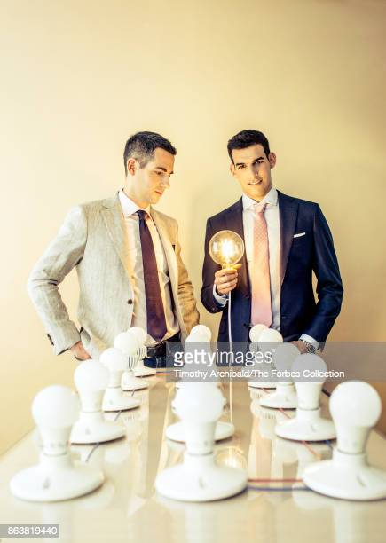 CoCEOs of Green Creative Cole Zucker and Guillaume Vidal are photographed for Forbes Magazine on May 1 2017 in San Bruno California PUBLISHED IMAGE...