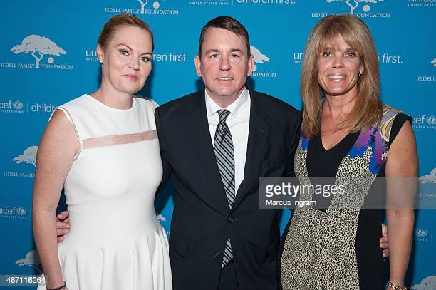 CoChair Cara Isdell Lee Sr VP of Development US Fund for UNICEF Barron Segar and Patron Chair Laura Turner Seydel attend the 2015 UNICEF Evening for...
