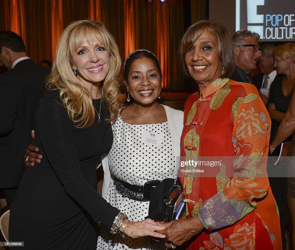 TMA co-chair Daryn Simons of Acting Out Management, Donzaleigh Abernathy and talent manager Dolores Robinson attend the 12th Annual Heller Awards at The Beverly Hilton Hotel on September 19, 2013 in Beverly Hills, California.