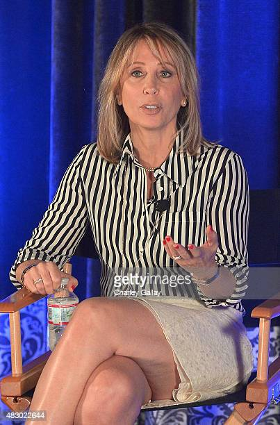 CoChair of 20th Century FOX Films Stacey Snider speaks at the LinkedIn Discussion Series at UTA at United Talent Agency on August 5 2015 in Beverly...