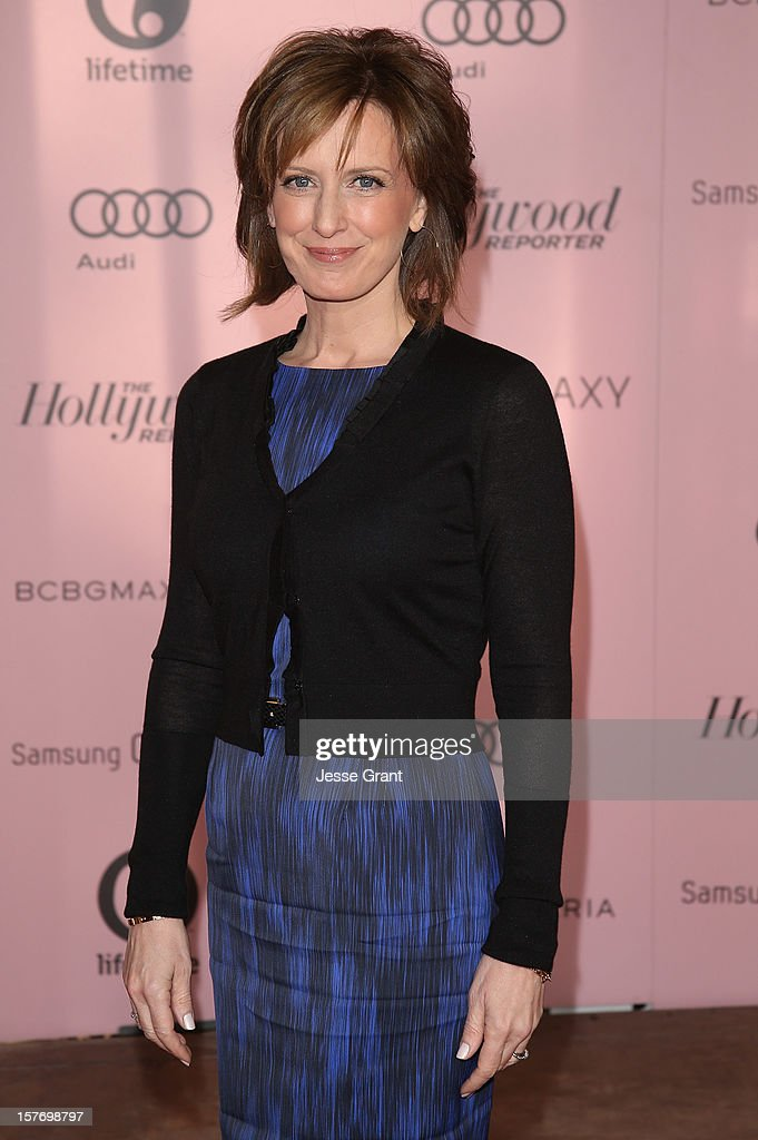 Co-chair of Disney media networks and president of Disney-ABC Television group Anne Sweeney arrives at the Hollywood Reporter's 21st annual women in entertainment breakfast at The Beverly Hills Hotel on December 5, 2012 in Beverly Hills, California.