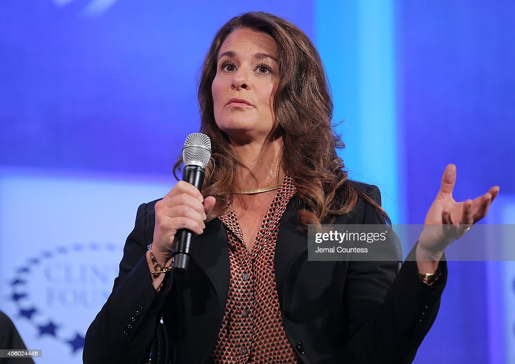 Cochair of the Bill and Melinda Gates Foundation Melinda Gates speaks during the fourth day of the Clinton Global Initiative's 10th Annual Meeting at...