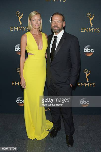 CoChairman 21st Century Fox Lachlan Murdoch and Sarah Murdoch attend the 68th Annual Primetime Emmy Awards at Microsoft Theater on September 18 2016...