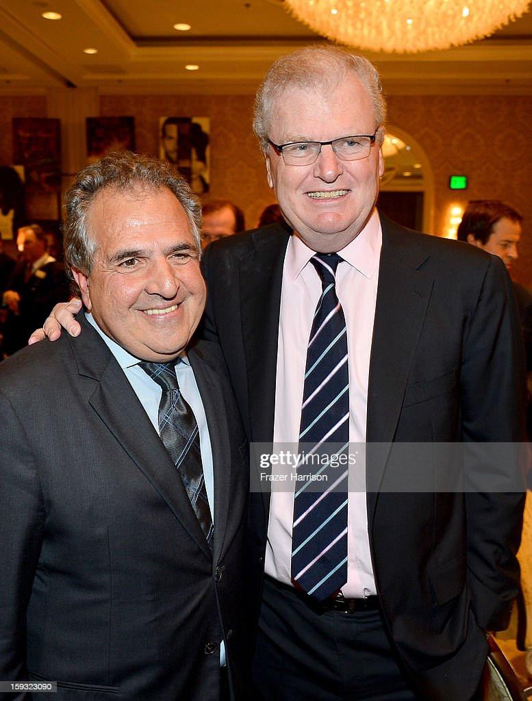 Co-Chairman and CEO, Fox Flmed Entertainment, Jim Gianopulos (L) and Sir Howard Stringer, Chairman of the Board of Directors, Sony Corporation, attends the 13th Annual AFI Awards at Four Seasons Los Angeles at Beverly Hills on January 11, 2013 in Beverly Hills, California.