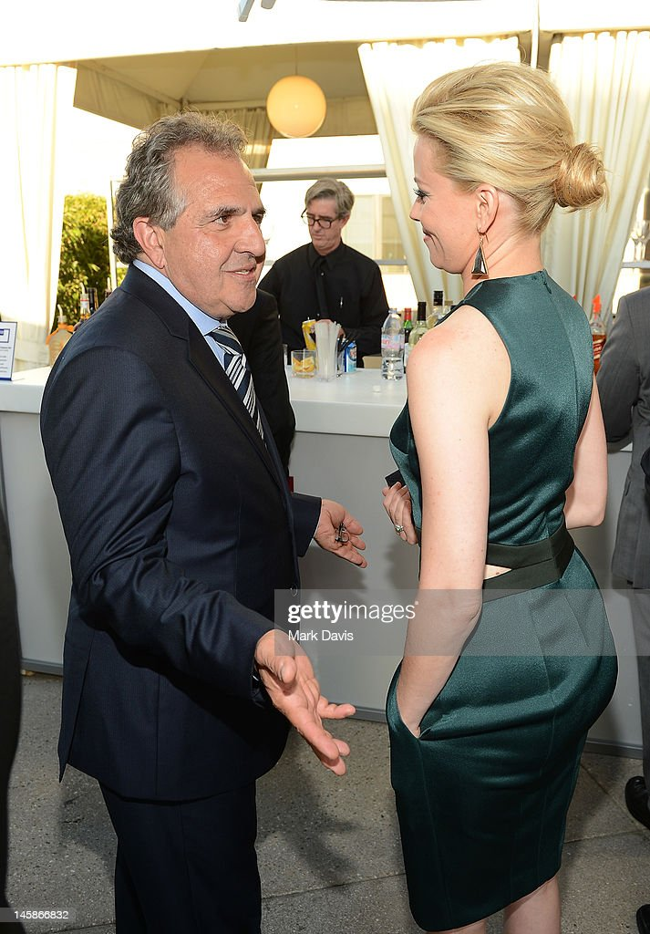 Co-Chairman and CEO of Fox Filmed Entertainment Jim Gianopulos and actress Elizabeth Banks attend the USC Shoah Foundation Institute Ambassadors for Humanity Gala held at the Grand Ballroom at Hollywood & Highland Center on June 6, 2012 in Hollywood, California.