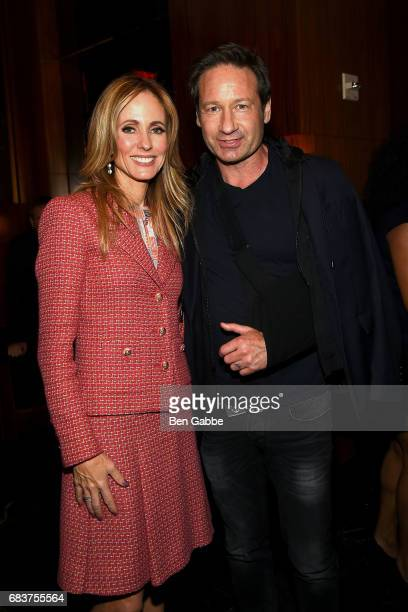 CoChairman and CEO of FOX Television Group Dana Walden and actor David Duchovny attend the 2017 FOX Upfront after party at Accent on May 15 2017 in...