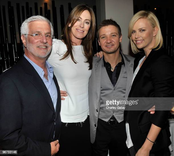 CoChairman and CEO Summit Entertainment Rob Friedman writer Mark Boal director Kathryn Bigelow actor Jeremy Renner and actress Charlize Theron attend...