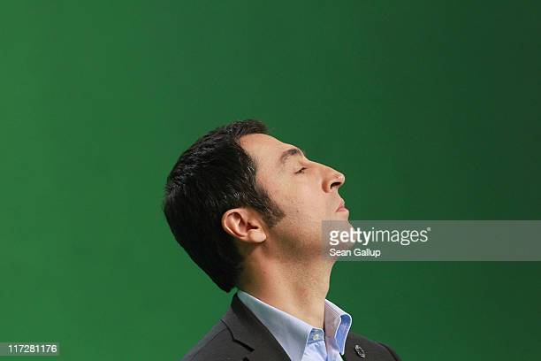 CoChairman Cem Oezdemir of the German Greens Party attends an exceptional national convention of the party over nuclear energy on June 25 2011 in...