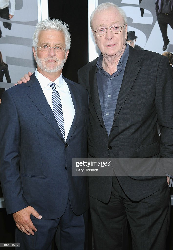 Co-Chairman of Lionsgate Motion Picture Group, <a gi-track='captionPersonalityLinkClicked' href=/galleries/search?phrase=Rob+Friedman&family=editorial&specificpeople=234962 ng-click='$event.stopPropagation()'>Rob Friedman</a> (L) and actor <a gi-track='captionPersonalityLinkClicked' href=/galleries/search?phrase=Michael+Caine+-+Actor&family=editorial&specificpeople=159746 ng-click='$event.stopPropagation()'>Michael Caine</a> attend the 'Now You See Me' premiere at AMC Lincoln Square Theater on May 21, 2013 in New York City.