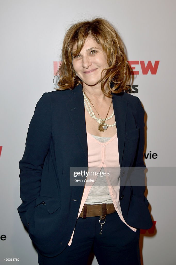 Co-Chairman of Sony Pictures Entertainment Amy Pascal attends the Premiere of Columbia Pictures' 'The Interview' at The Theatre at Ace Hotel Downtown LA on December 11, 2014 in Los Angeles, California.