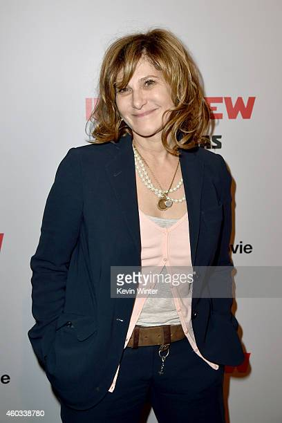 CoChairman of Sony Pictures Entertainment Amy Pascal attends the Premiere of Columbia Pictures' 'The Interview' at The Theatre at Ace Hotel Downtown...