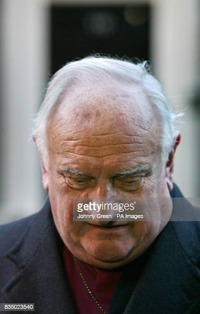 Cochairman of the Consultative Group on the Past report Lord Eames speaks to the press as he and his cochairman Denis Bradley leave 10 Downing Street...