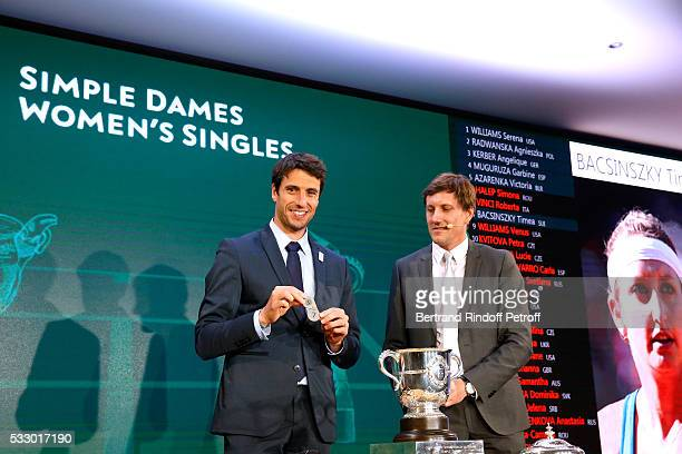 Cochairman of the organizing committee of the Olympic Games of Paris 2024 Canoe Olympic champion Tony Estanguet attends the 2016 Roland Garros French...