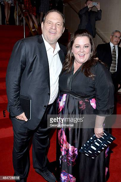 Cochairman of The Weinstein Co Harvey Weinstein and actress Melissa McCarthy attends the 'St Vincent' premiere during the 2014 Toronto International...
