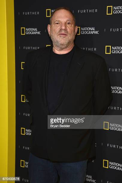 CoChairman of The Weinstein Company Harvey Weinstein at National Geographic's Further Front Event at Jazz at Lincoln Center on April 19 2017 in New...