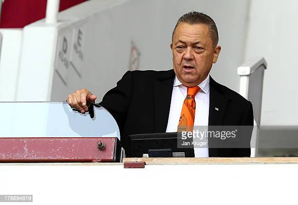 CoChairman of West Ham United David Sullivan looks on during the Barclays Premier League match between West Ham United and Cardiff City at the Bolyen...