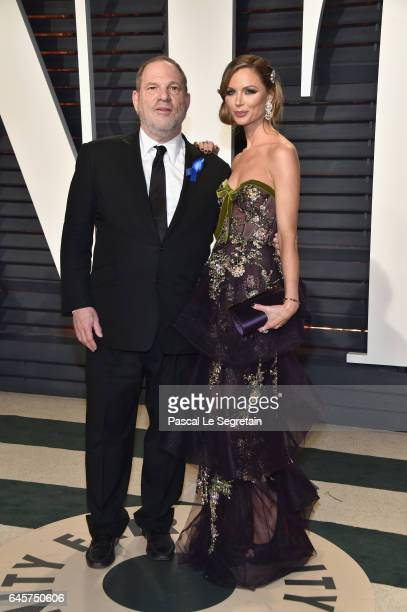 CoChairman The Weinstein Company Harvey Weinstein and fashion designer Georgina Chapman attend the 2017 Vanity Fair Oscar Party hosted by Graydon...