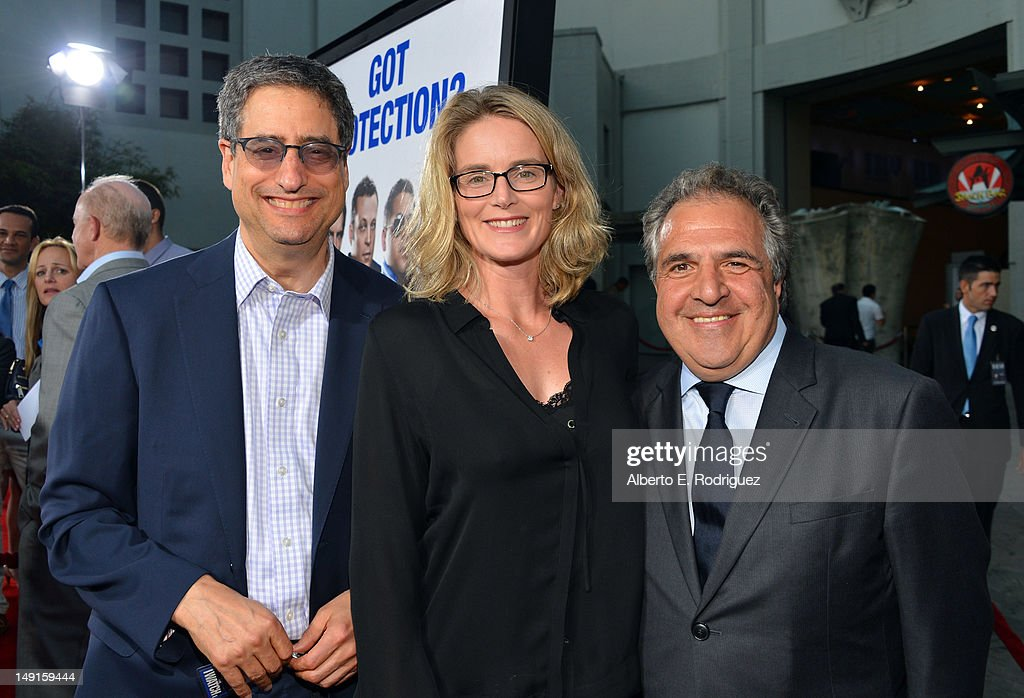 Co-Chairman-CEO of Fox Filmed Entertainment <a gi-track='captionPersonalityLinkClicked' href=/galleries/search?phrase=Tom+Rothman&family=editorial&specificpeople=206843 ng-click='$event.stopPropagation()'>Tom Rothman</a>, President of Production for 20th Century Fox Emma Watts, and Co-Chairman-CEO of Fox Filmed Entertaiment <a gi-track='captionPersonalityLinkClicked' href=/galleries/search?phrase=Jim+Gianopulos&family=editorial&specificpeople=211611 ng-click='$event.stopPropagation()'>Jim Gianopulos</a> arrive at the premiere of Twentieth Century Fox's 'The Watch' at Grauman's Chinese Theatre on July 23, 2012 in Hollywood, California.