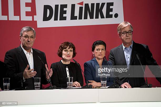CoChairmans of parliamentary group Sahra Wagenknecht and Dietmar Bartsch and Coleaders of Die Linke party Bernd Riexinger and Katja Kipping are...