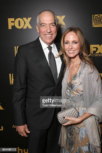 Cochairmen of 20th Century Fox Television Gary Newman and Dana Walden attend FOX Golden Globe Awards Party 2016 sponsored by American Airlines at The...