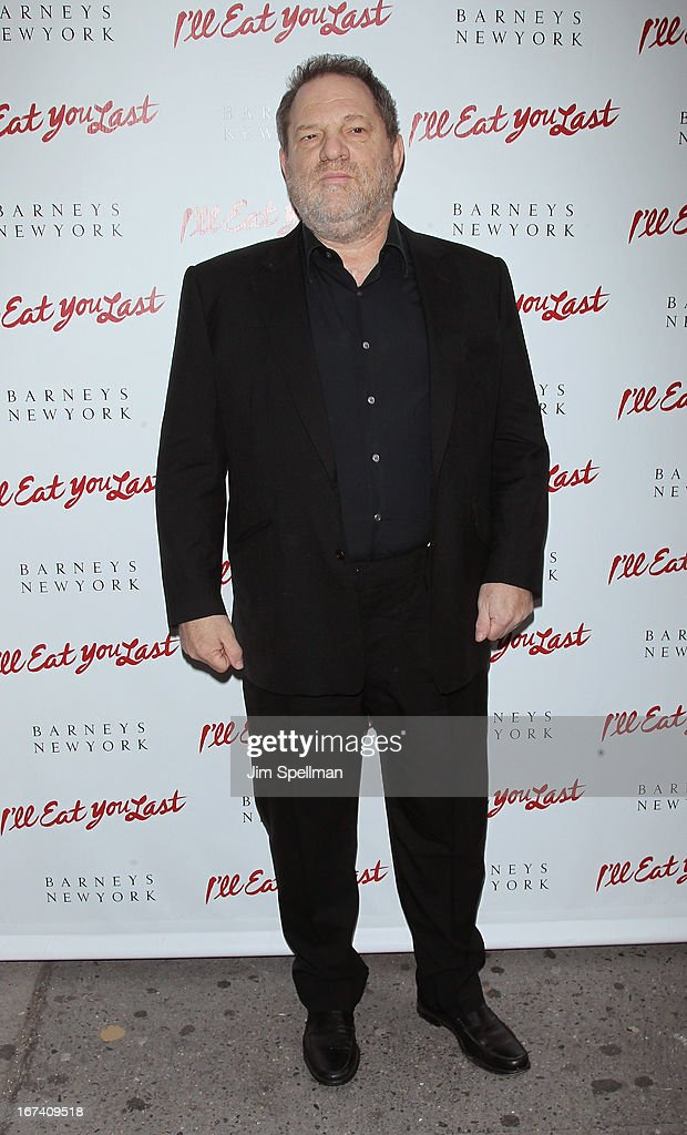 Co-Chairmen of The Weinstein Company <a gi-track='captionPersonalityLinkClicked' href=/galleries/search?phrase=Harvey+Weinstein&family=editorial&specificpeople=201749 ng-click='$event.stopPropagation()'>Harvey Weinstein</a> attends the 'I'll Eat You Last' Broadway Opening Night at the Booth Theatre on April 24, 2013 in New York City.