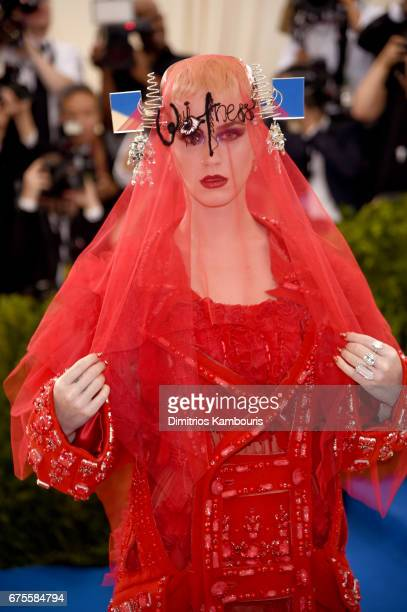 CoChairperson Katy Perry attends the 'Rei Kawakubo/Comme des Garcons Art Of The InBetween' Costume Institute Gala at Metropolitan Museum of Art on...