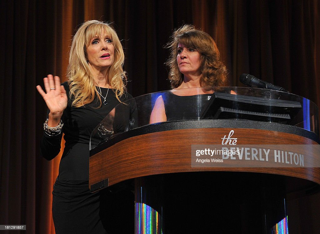 TMA co-chairs Daryn Simons of Acting Out Management and Kimberly L. Jago of KL Jago Talent attend the 12th Annual Heller Awards at The Beverly Hilton Hotel on September 19, 2013 in Beverly Hills, California.