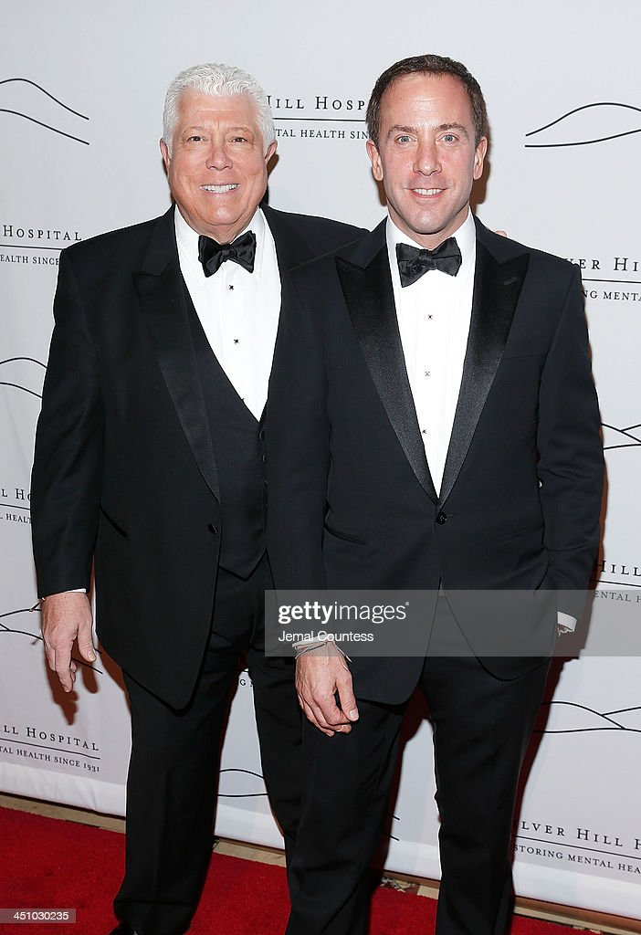 Co-chairs Dennis Basso and Michael Cominotto attend the 2013 Silver Hospital gala at Cipriani 42nd Street on November 20, 2013 in New York City.