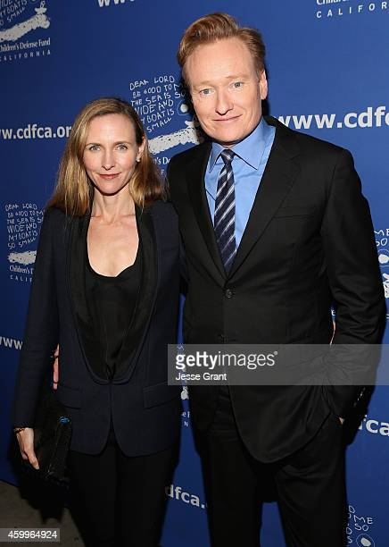 CoChairs Liza O'Brien and Conan O'Brien attend Children's Defense Fund California Hosts 24th Annual Beat The Odds Awards at Book Bindery on December...