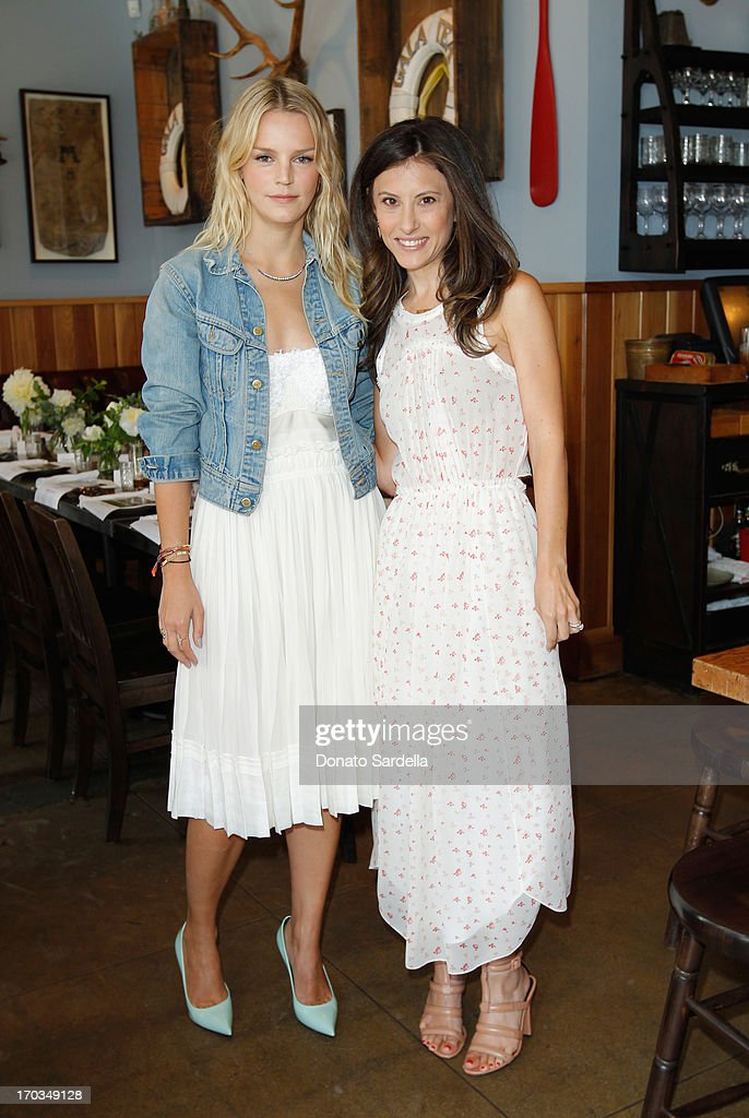 Co-Chairs of Baby2Baby Kelly Sawyer Patricof (L) and Norah Weinstein attend the Paper Denim & Cloth and Baby2Baby Luncheon at Son Of A Gun on June 11, 2013 in Los Angeles, California.