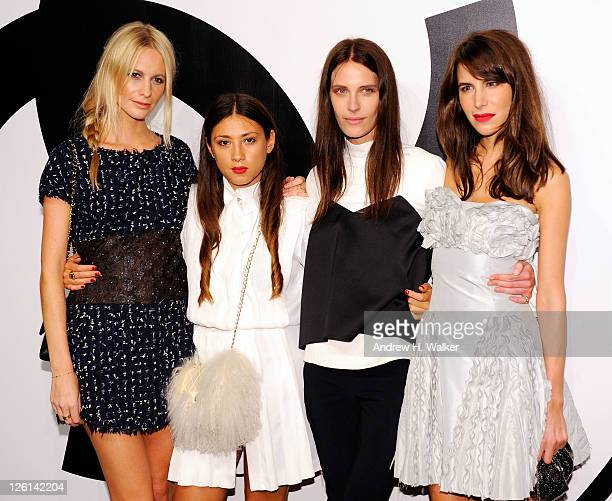 RXART CoChairs Poppy Delevingne Jen Brill Vanessa Traina and Caroline Sieber wearing Chanel attend the annual RxART PARTY sponsored by CHANEL Beaute...