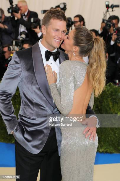 Cochairs Tom Brady and Gisele Bundchen attend the 'Rei Kawakubo/Comme des Garcons Art Of The InBetween' Costume Institute Gala at Metropolitan Museum...