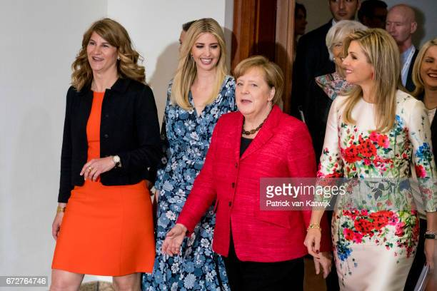 cochairwoman of the W20 Stephanie Bschorr First Daughter and Advisor to the US President Ivanka Trump German Chancellor Angela Merkel Queen Maxima of...