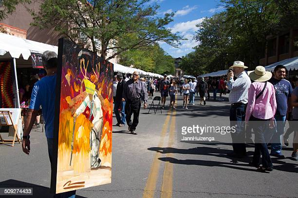 Cochiti Pueblo Painter at the 2014 Santa Fe Indian Market