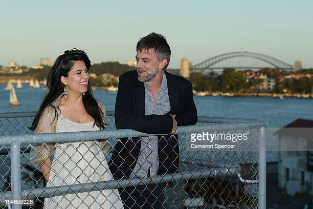 Cockatoo Island Film Festival Creative Director Allanah Zitserman poses with Director and Screenwriter Paul Thomas Anderson during the Inaugural...