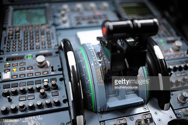 Cabine de Piloto de avião detalhe Airbus A320