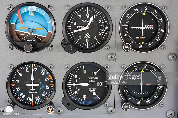 Cabine de Piloto de avião do Painel de Instrumentos