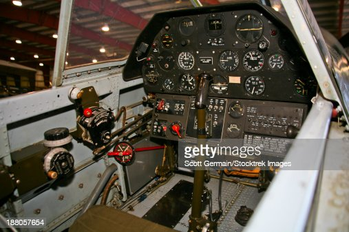 Cockpit Of A P40e Warhawk Stock Photo | Getty Images