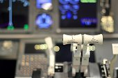 Cockpit of an homemade Flight Simulator In Thailand