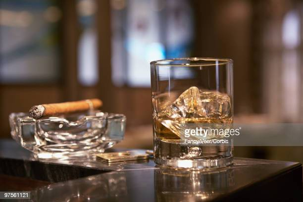 Cocktail and cigar