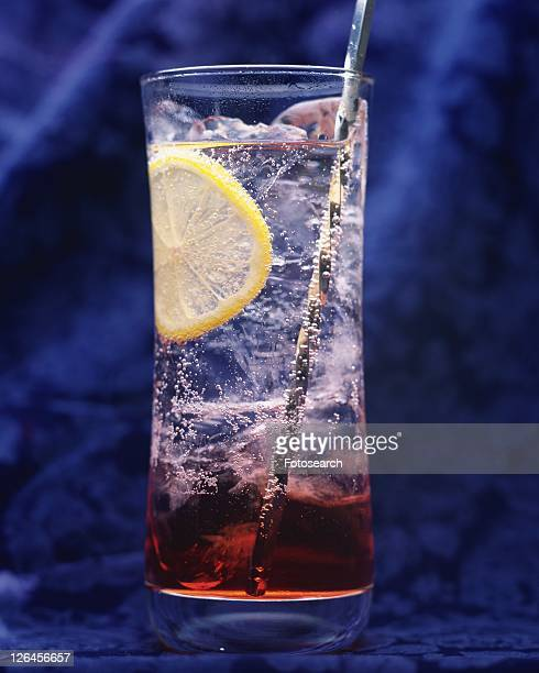 Cocktail, Campari Soda, Front View, Differential Focus