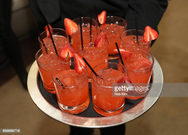 Cocktail drinks at the Female Bosses celebration and BOSS BITCH book launch and interactive panel event at The Core Club on March 22 2017 in New York...